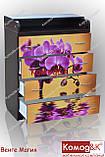Комод пеленатор цвет Венге Магия + Орхидеи, фото 3