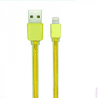 USB кабель Gelius Nylon Seria iPhone 5 Gold