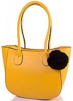 Желтая женская кожаная сумка ETERNO, IBP1003