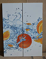 """Фотопечать """"апельсины"""" на полированных фасадах МДФ под лаком"""