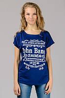 """Женская футболка """"John Baner"""" синяя"""