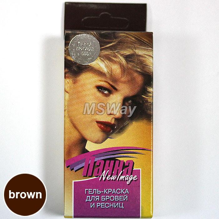 """Barviya - Гель-краска для бровей и ресниц """"Панна"""" (коричневая)"""