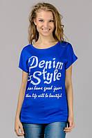 """Женская футболка """"Denim Style"""" голубая"""
