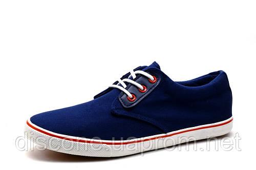 Мужские туфли Navigator, текстиль, спортивные, синие