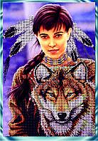 Схема для вышивания бисером Индейский дух КМР 3157