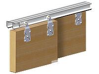 Valcomp HORUS  комплект на 2 двери ДСП 16-40 мм, L=1800 мм, серебро