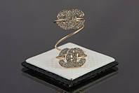 Кольцо на фалангу пальца chanel в золоте безразмерное