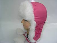 Шапка розовая с пайетками, фото 1