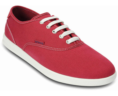Туфли мужские текстильные вансы Кроксы ЛоПро оригинал / Crocs Men's LoPro Canvas Plim Sneaker (14616), Красные