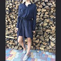 Платье-рубашка с поясом TM B&H.Материал:замша.AA 017