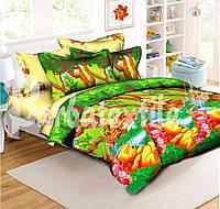Детское полуторное постельное белье Винни пух