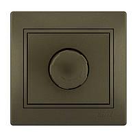 MIRA Димер 1000W світло-коричневий перламутр со вставкой Lezard (701-3131-157)