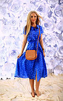 Платье-рубашка миди в расцветках 957 (188)