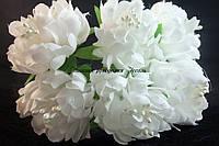 Цветы хризантемы белые 3.5см уп./3 цветка