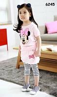 Летний костюм Minnie Mouse для девочки. , фото 1
