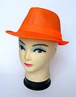Оранжевая соломенная шляпка