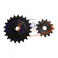 Звезда задняя, моторная усиленные (цепь комбайна) на мотороллер Муравей