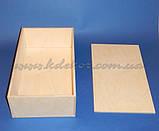 Коробка з кришкою №1 заготівля для декупажу та декору, фото 4