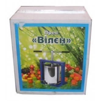 Ручной пресс для сока Вилен на 6 литров , нержавеющая сталь, фото 2