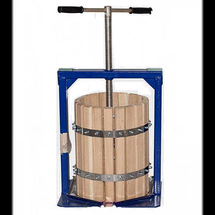 Ручной пресс для сока Вилен на 20 литров , дубовый корпус, фото 2