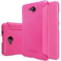 Кожаный чехол Nillkin Sparkle для Microsoft Lumia 650 розовый, фото 1