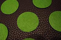 Фетровый кружок d 4 cм зелёный