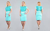 Элегантное женское платье из хлопка. Пояс входит в комплект. Новинка лето 2016