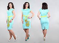 Летнее женское платье из натурального хлопка. На платье выполнена трафаретная печать. Новинка