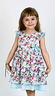 Нарядное детское платье для девочки ТМ Мевис оптом р.98-116 (4 шт в ростовке)