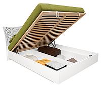 Кровать с подъемным механизмом Богема / Bogema MiroMark 160х200 белый глянец