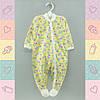 Человечек для новорожденных деток, Хлопок-Кулир,1424жел. 5-8 месяцев, В наличии 68_74_ Рост
