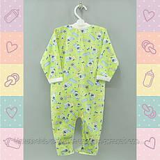 Человечек для новорожденных деток, Хлопок-Кулир,1424жел. 5-8 месяцев, В наличии 68_74_ Рост, фото 2