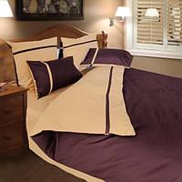 Двуспальное постельное белье ТЕП Дуэт коричневый