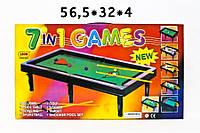 Детская настольная игра - бильярд 20027, 7 в 1