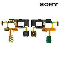 Шлейф для Sony Xperia TX LT29i, кнопки включения, коннектора наушников, оригинал