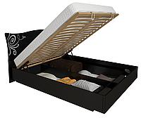Кровать с подъемным механизмом Богема / Bogema MiroMark 160х200 черный глянец
