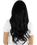 Слов'янські волосся на капсулах 60 см. Колір #Чорний, фото 4