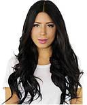 Слов'янські волосся на капсулах 60 см. Колір #Чорний, фото 3