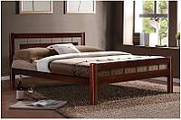 Кровать деревяная двуспальная Альмерия 1,6 м,орех