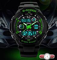 Противоударные, водонопроницаемые мужские спортивные часы Skmei 0931 Green