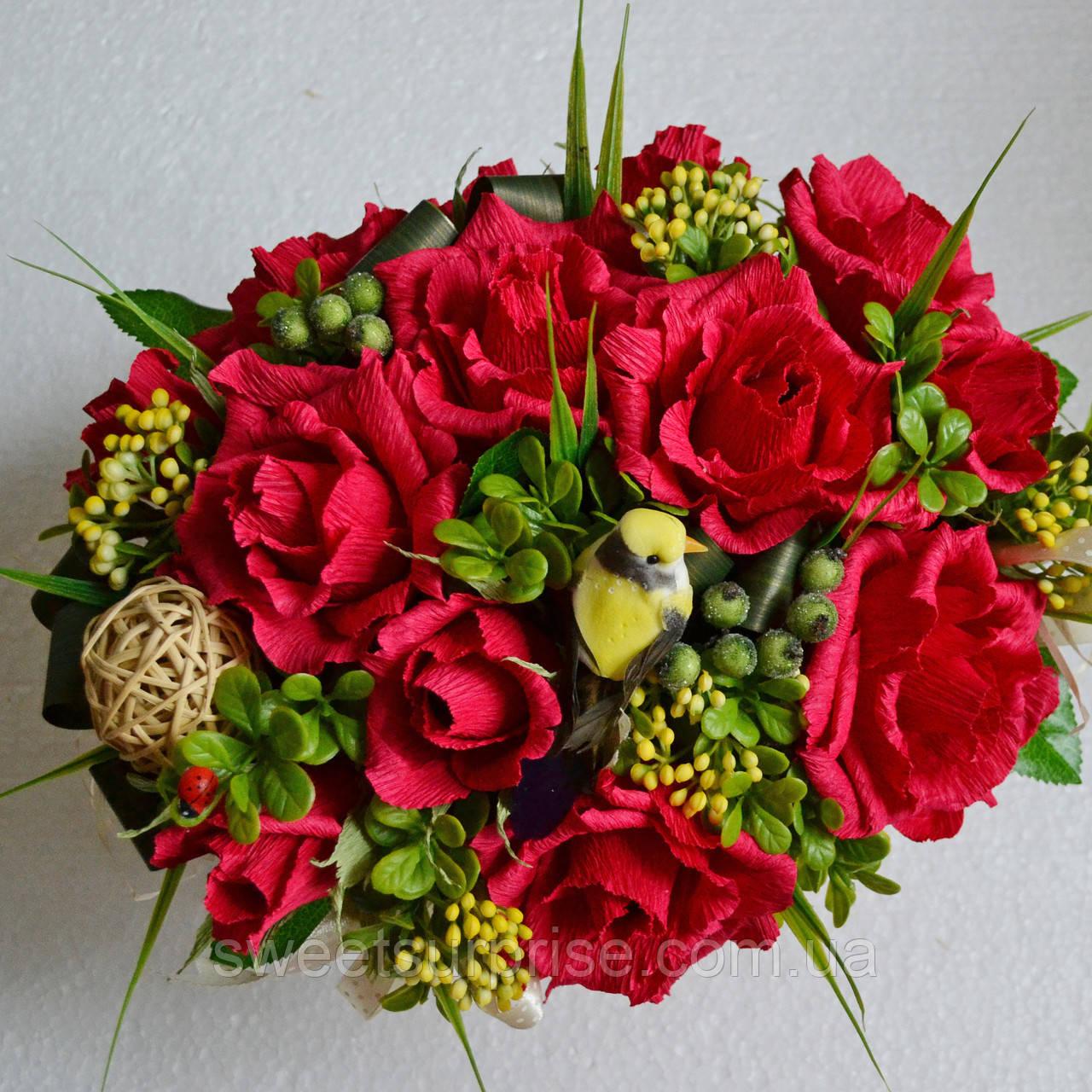 """Подарочная корзина """"Вкусные розы"""""""