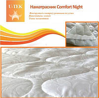 Стеганый наматрасник 90х190 Comfort Night ХЛОПОК резинки по углам