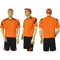 Форма футбольная Ф12 Оранжево-черная СОБСТВЕННОЕ ПРОИЗВОДСТВО