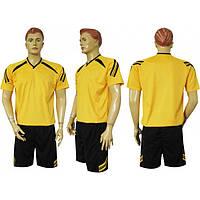 Форма футбольная Ф12 желто-черная СОБСТВЕННОЕ ПРОИЗВОДСТВО