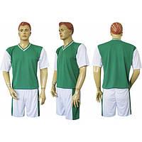 Форма футбольная Ф14 зелено-белая  СОБСТВЕННОЕ ПРОИЗВОДСТВО