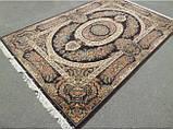 Шикарний класичний килим з коричневим фоном, фото 2