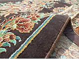 Шикарний класичний килим з коричневим фоном, фото 4