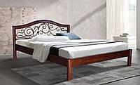 Кровать деревянная двуспальная  Илонна 1400*2000 каштан