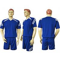 Форма футбольная Ф12 сине-белая СОБСТВЕННОЕ ПРОИЗВОДСТВО