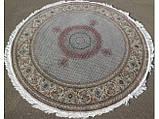 Круглий килим в різних розмірах сіро-блакитний, фото 2
